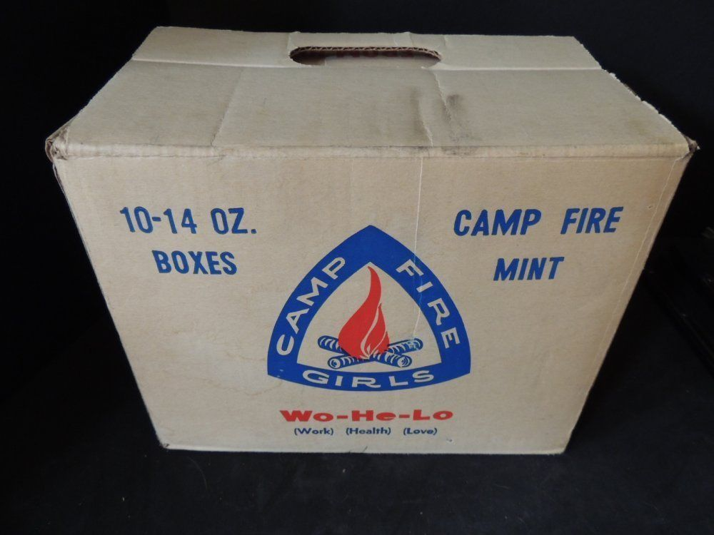 Details About Vintage Camp Fire Girls Candy Box Wo He Lo