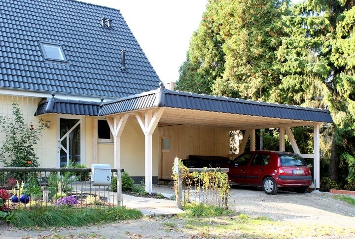 Flachdach Carport Carport Haus Flachdach