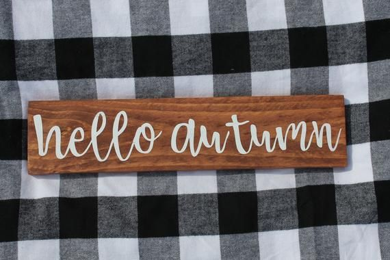 Hello Autumn | Wood Sign | holidays | fall | leaves | pumpkins | decorative sign | gallery wall | welcome #helloautumn