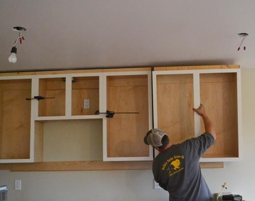 Installing Kitchen Cabinets - Momplex Vanilla Kitchen | Ana ...