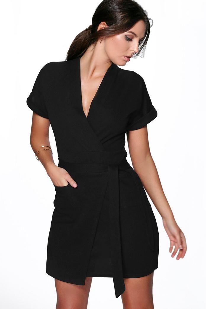 Obi Tie Wrap Dress Boohoo Maxi Dress With Sleeves Wrap Dress Wrap Dress Styles