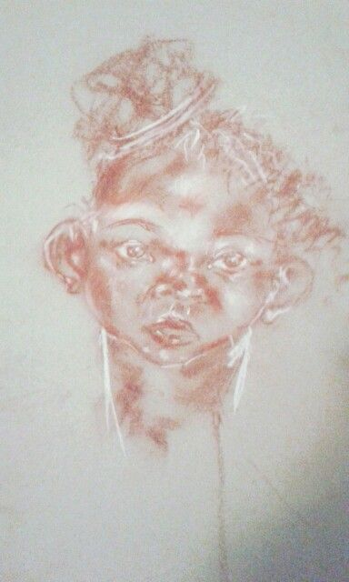 A baby girl Charcoal sketch My art Pinterest Charcoal sketch