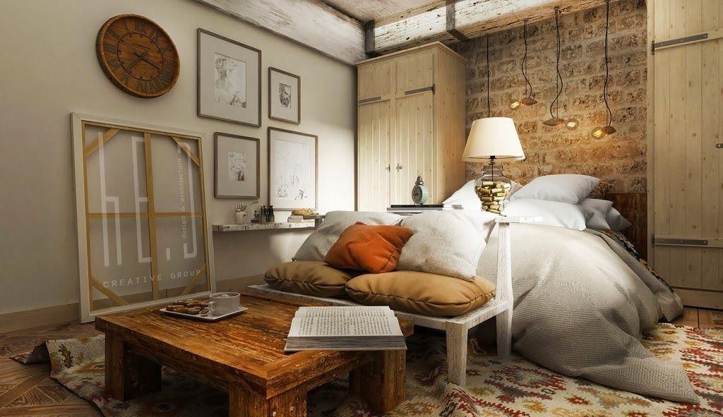 Dormitorio RUSTICO con LADRILLOS y MADERA - Dormitorios estilo ...