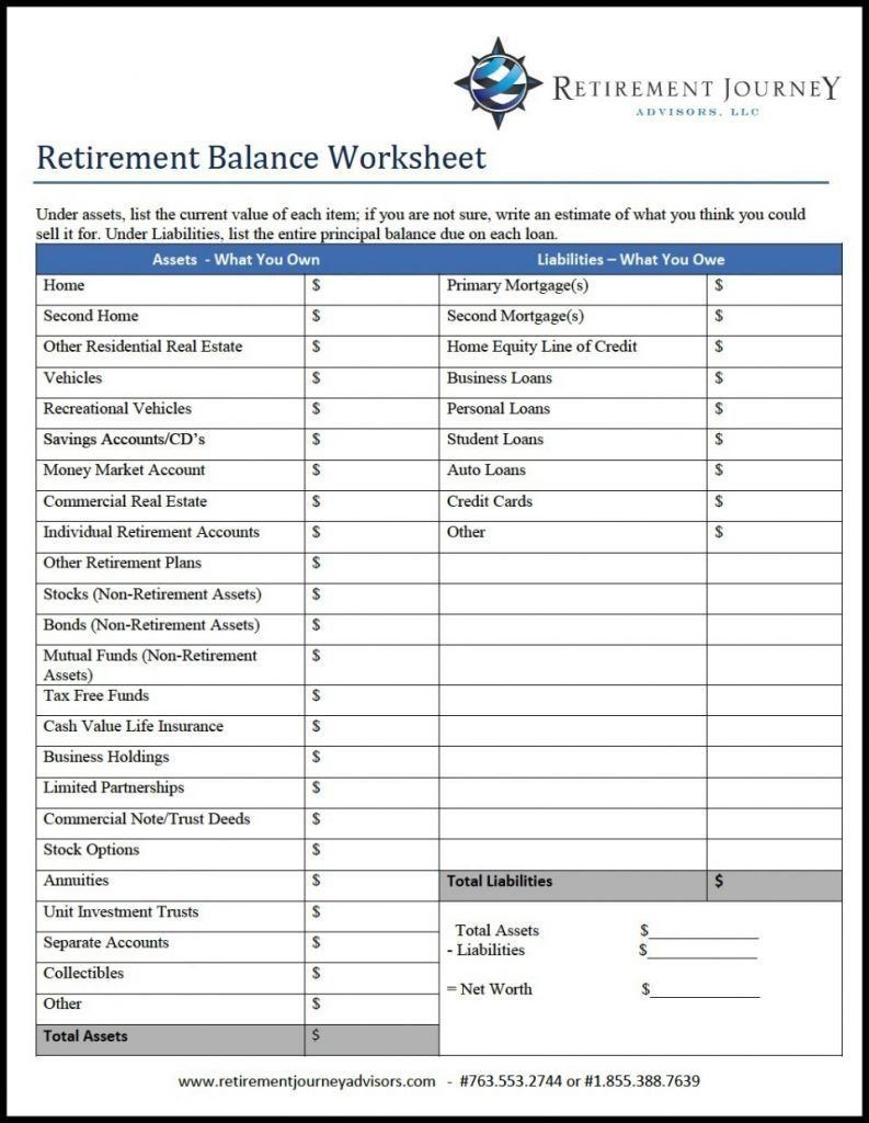 Assets And Liabilities Worksheet Help You Save Currently This Particular Absolutely Free Worksheet Template Financial Planning Estate Planning