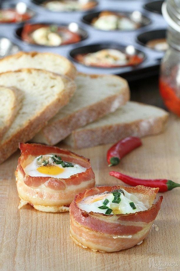 Zapekané vajíčka so slaninkou