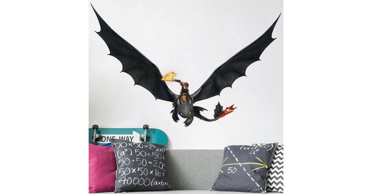 wandtattoo »dragons hicks und ohnezahn fliegen