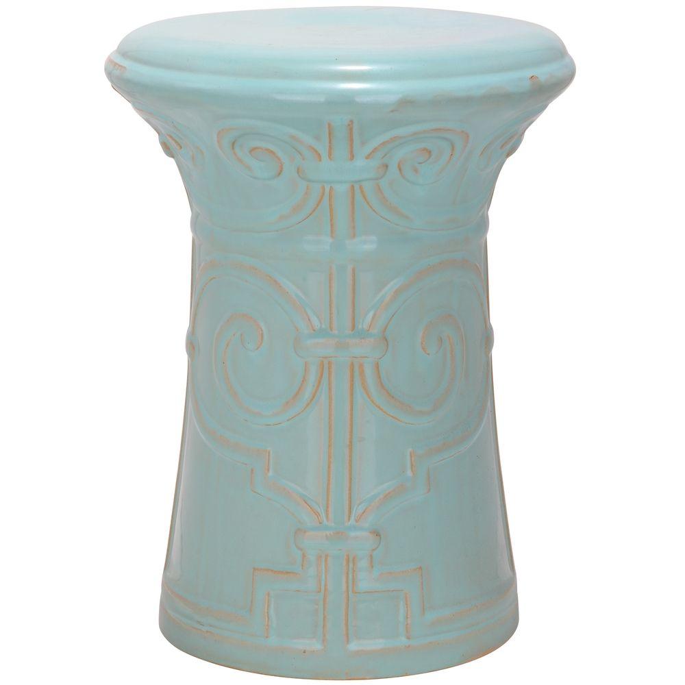 Ceramic Garden Stools · Safavieh Paradise Zoe Light Blue ...