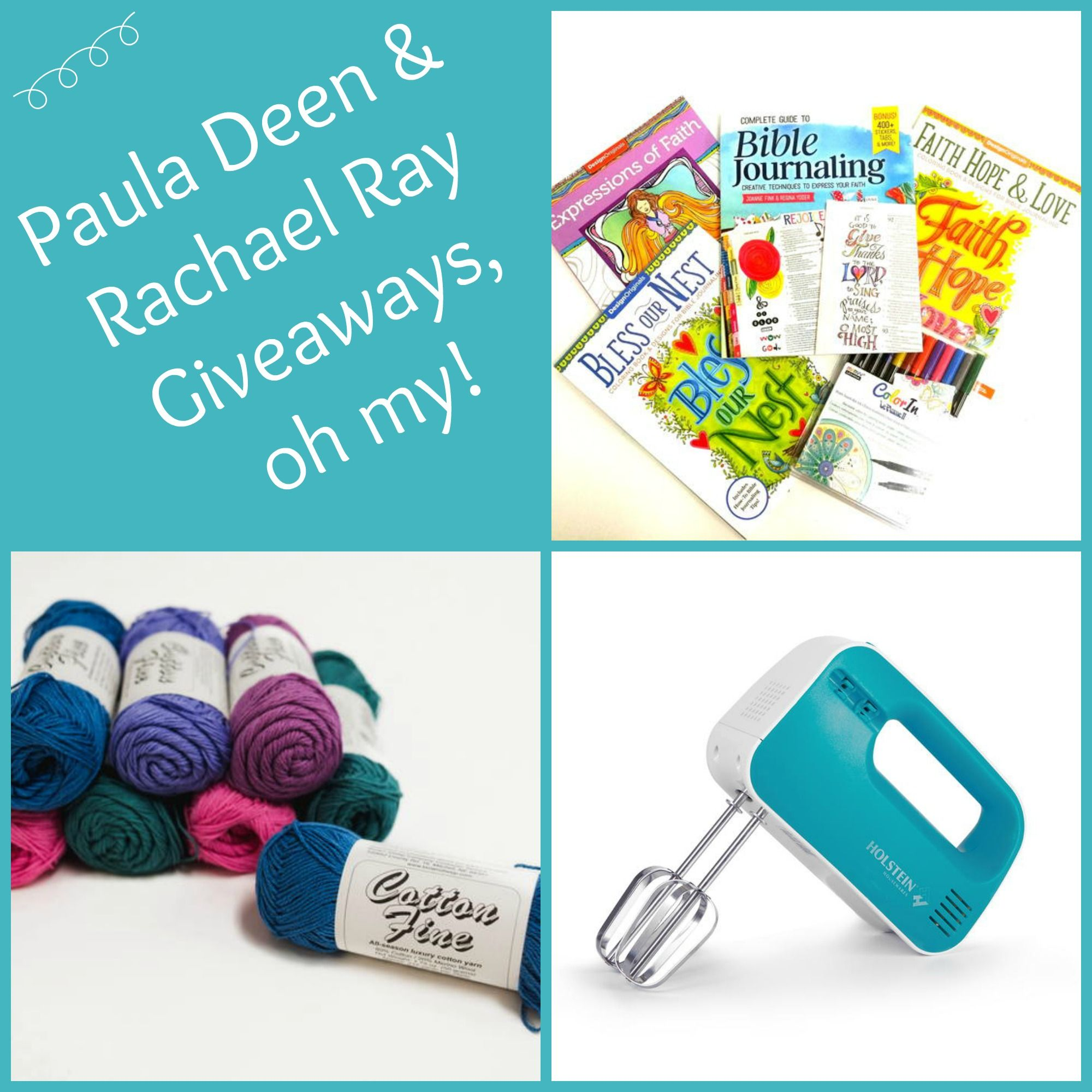 Paula Deen and Rachael Ray Giveaways! Craft giveaway