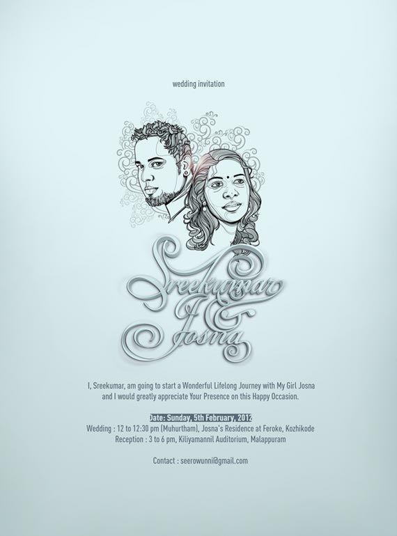 Amazing Diy Poster Wedding Invitations Announcement Weding Invitation Illustrated Wedding Invitations Cartoon Wedding Invitations