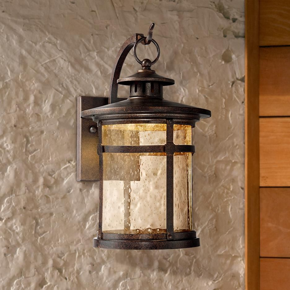 Callaway 11 1 2 High Rustic Bronze Led Outdoor Wall Light 5x185 Lamps Plus Rustic Outdoor Lighting Led Outdoor Wall Lights Exterior Light Fixtures