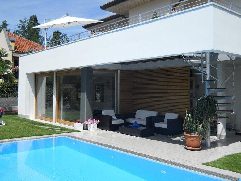 Ampliamento villa e nuova piscina, Segrate, 2011 Andrea