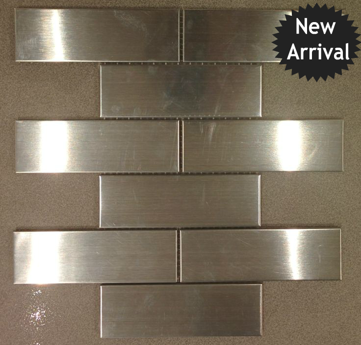 Stainless Steel Subway Tile - Brick 2\