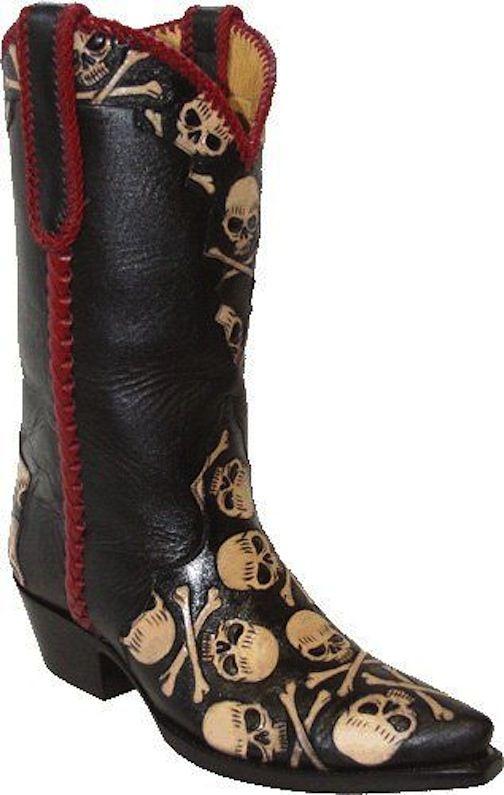 5a13d6fd27 skull cowboy boots Botas Informales