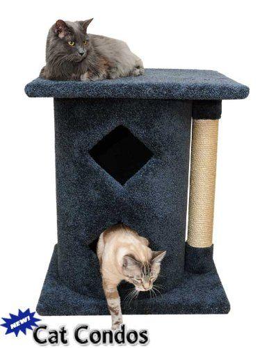 New Cat Condos Premier 2 Story Cat Cavern Unbelievable Cat Item Right Here Cat Tower Cat Condo Cat Fleas Cats
