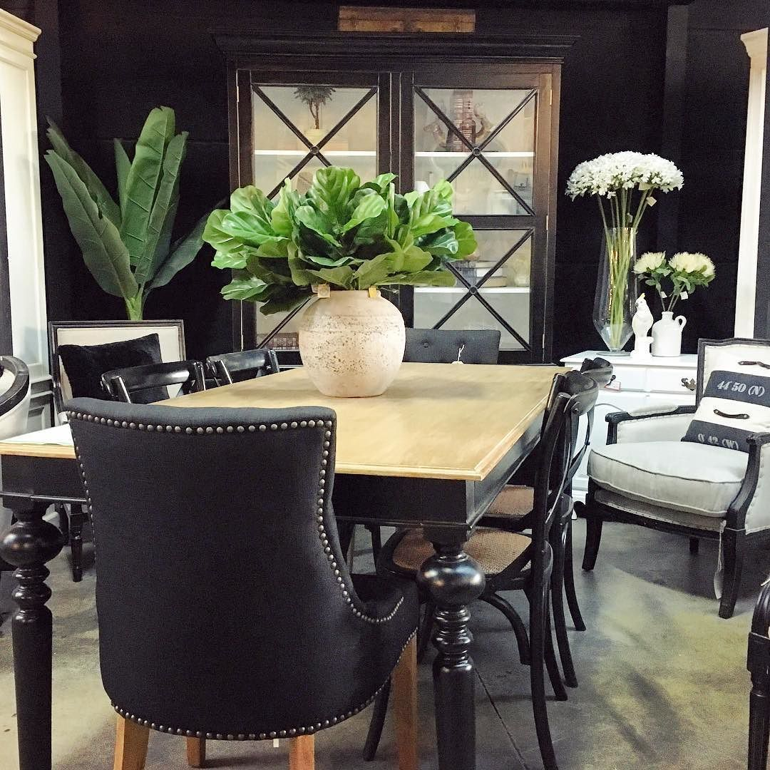 Casual Dining Table Decor: Black Decor Our Chandon Dining Table In Black With