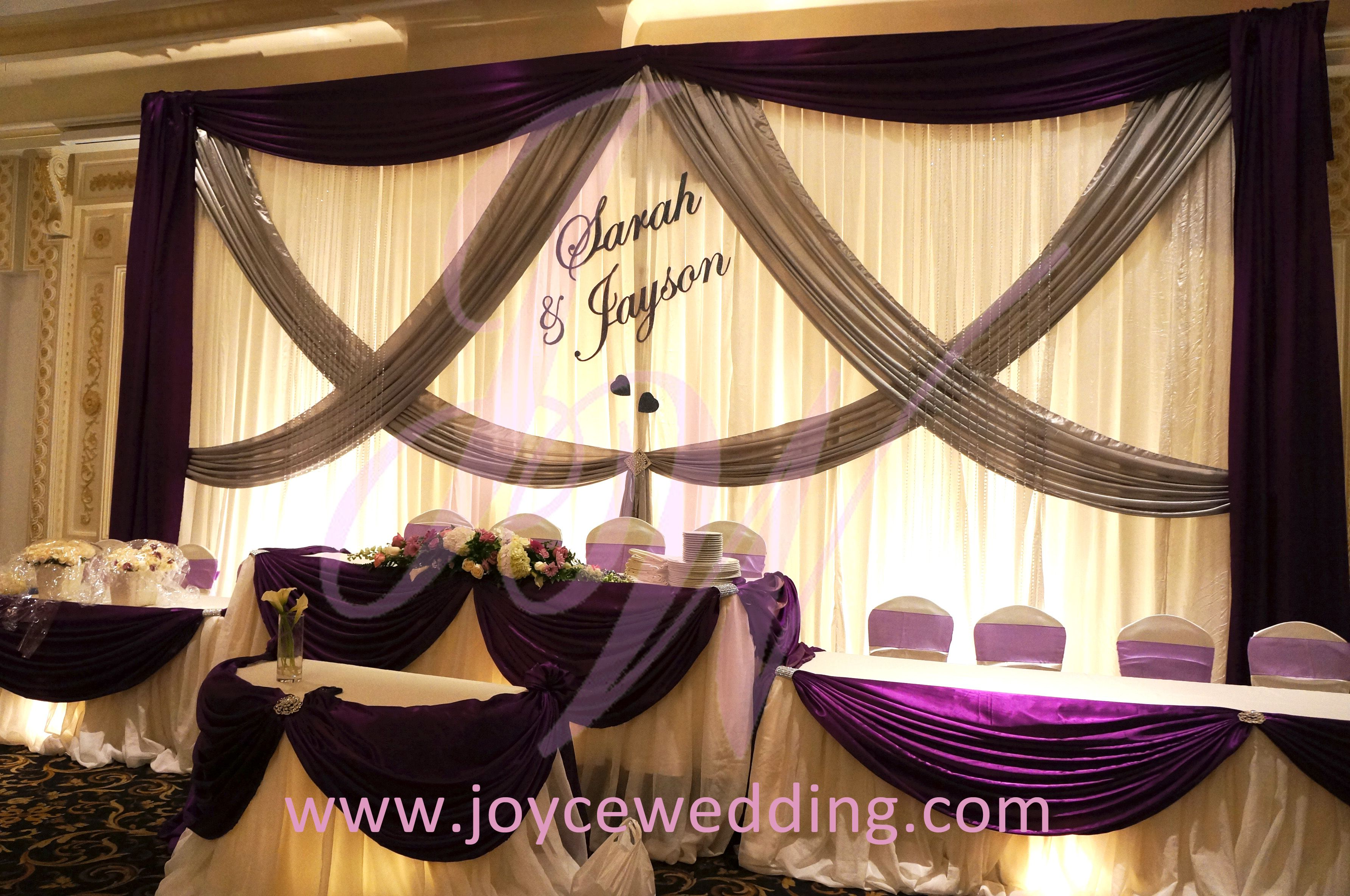 Purple and #silver #decoration for #wedding | Silver decorations ...