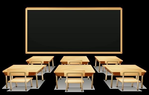 School Classroom With Blackboard And Desks Png Clipart Picture Obrazky Pozvanka Skola