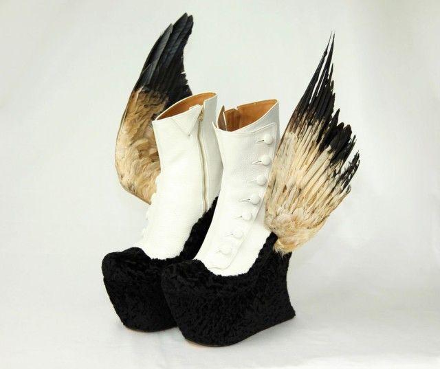 Bizarre Bird Inspired Stilettos by Masaya Kushino