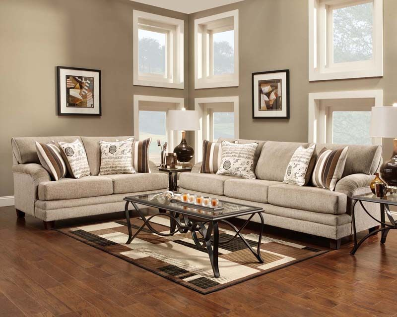Lifeline Taupe Sofa & loveseat