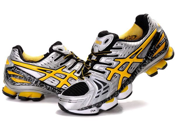 the latest 3f5fa d9189 Men Asics Gel Kinsei 2 Shoes Grey Yellow Black