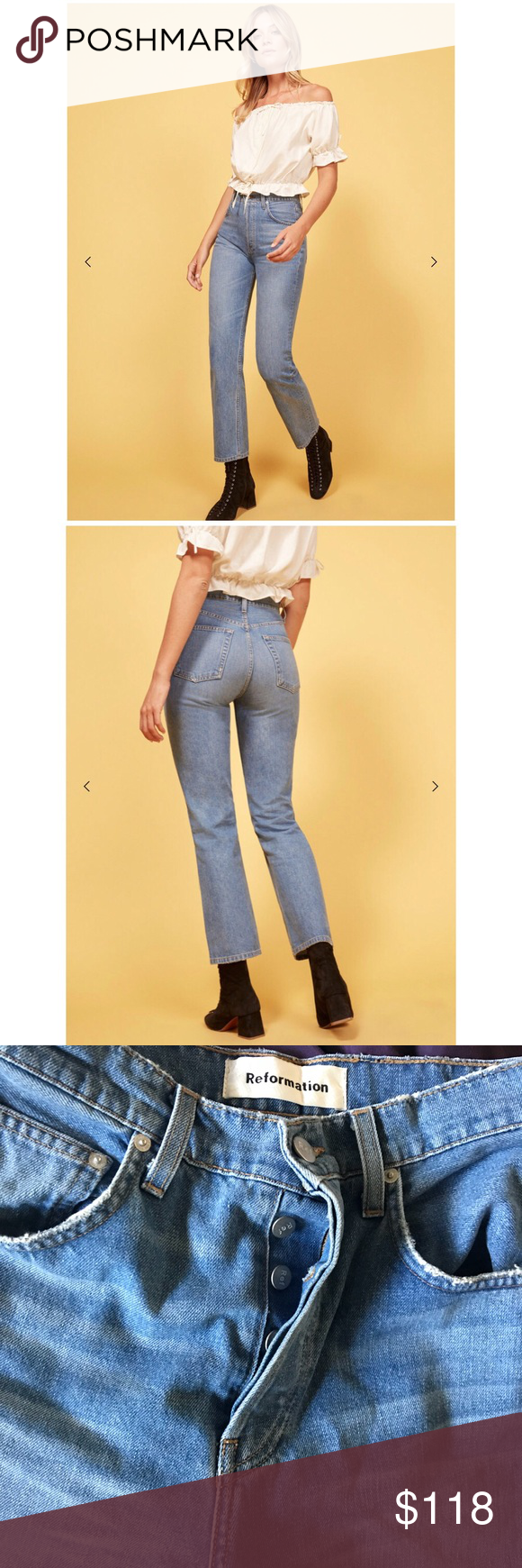 791220eefe4c Reformation Cynthia Relaxed Jean Reformation Cynthia Relaxed Jean. NEW  WITHOUT TAGS! These babies are