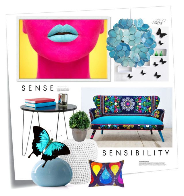"""sensəˈbɪləti"" by riza-villareal ❤ liked on Polyvore featuring interior, interiors, interior design, home, home decor, interior decorating, Post-It, Jonathan Adler, West Elm and Pier 1 Imports"