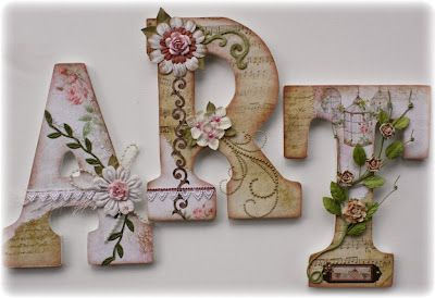 Field Trip Friday Wooden Letters Decorated Letter A Crafts