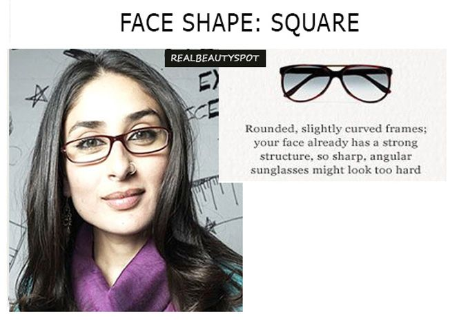 53c81d6805 Kareena Kapoor glasses - Square face shape Glasses For Your Face Shape
