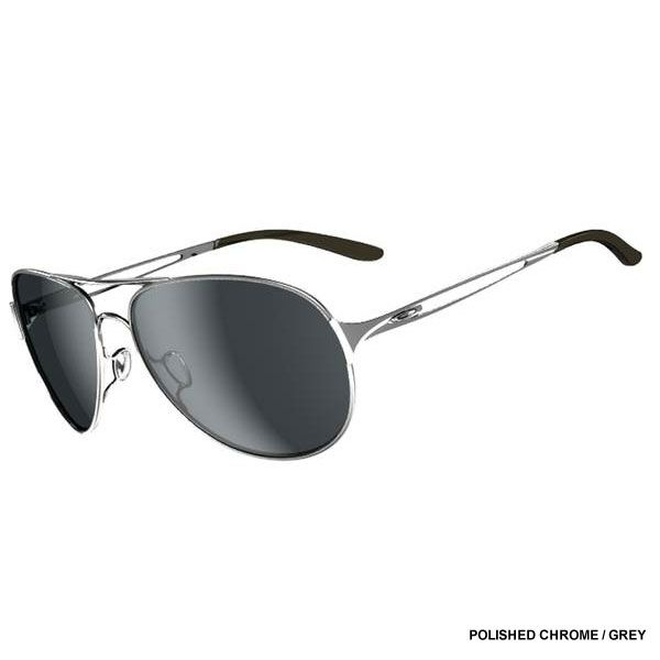 Oakley Damen Given Sonnenbrille, Schwarz (Polished Chrome), 60