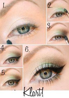 framhäva gröna ögon hårfärg