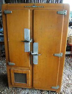 Glaciere chambre froide bois art deco kelvinator frigo de boucherie id es pinterest - Chambre froide boucherie ...