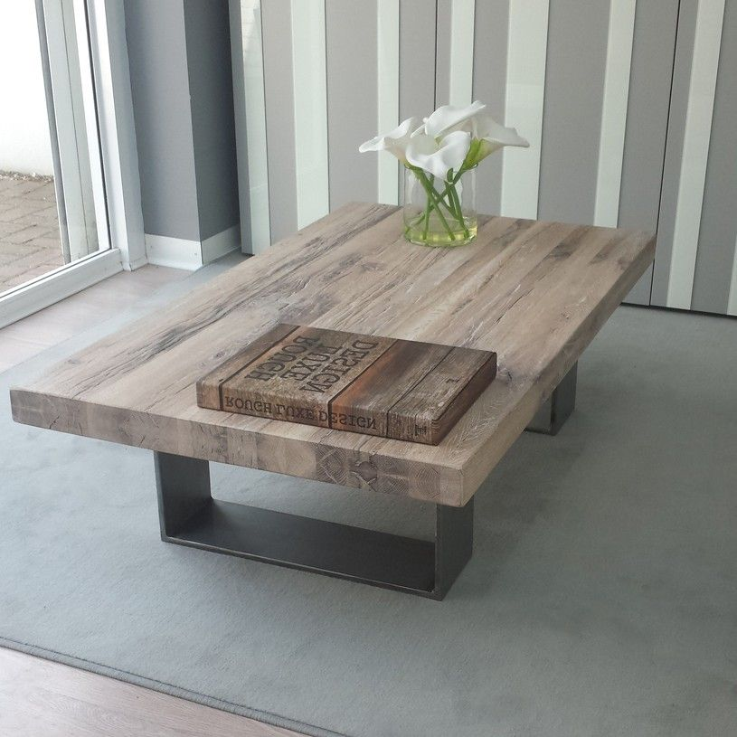 Attractive Weathered Coffee Table Wood Full Furnishings Distressed Oak