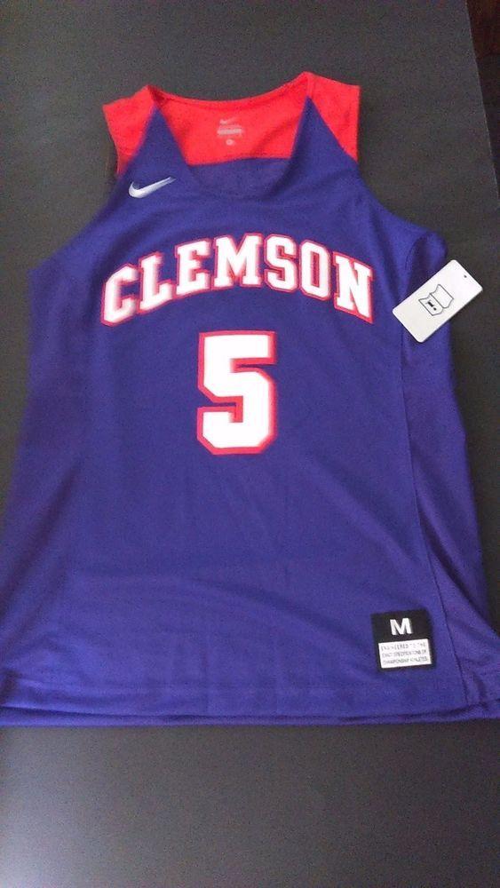 hot sale online f45e0 ec32f Nike Clemson Tigers Elite Enforcer Basketball Jersey Women's ...