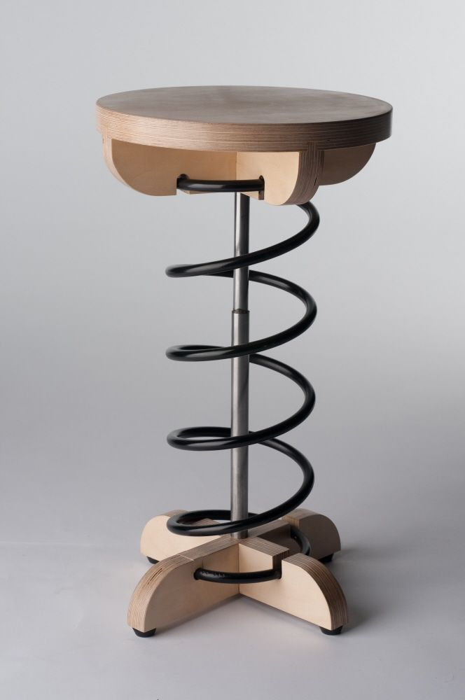 Etonnant Car Spring Stool. Wood Furniture, Furniture Design, Chair Design, Wood  Projects,