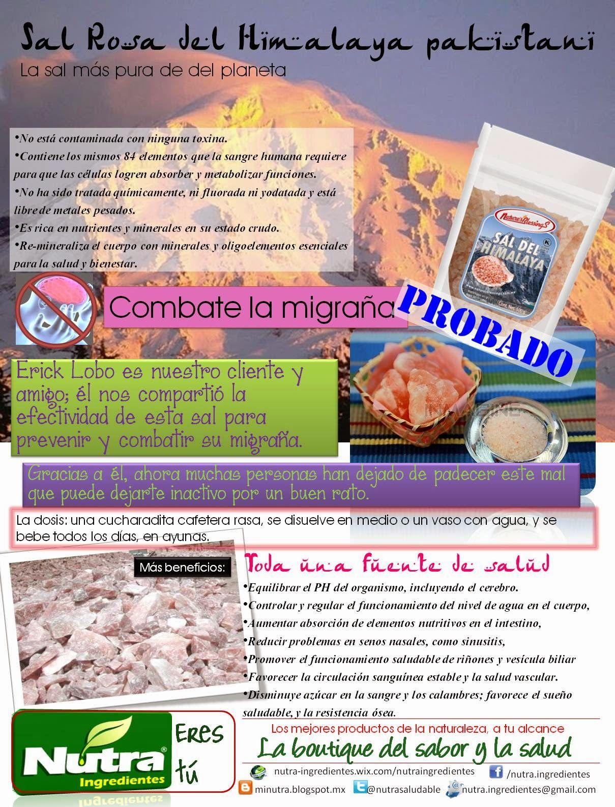 """Nutra® Ingredientes: """"Desacostúmbrate"""" de vivir con migraña"""