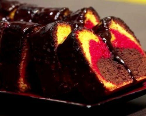 عمل كيكه الشوكولاته مع علم المانيا مع إلسا Baked Peach Desserts Baking