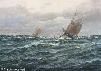 Stahl Hamburg segelschiffe auf hoher see sold by auktionshaus stahl hamburg on
