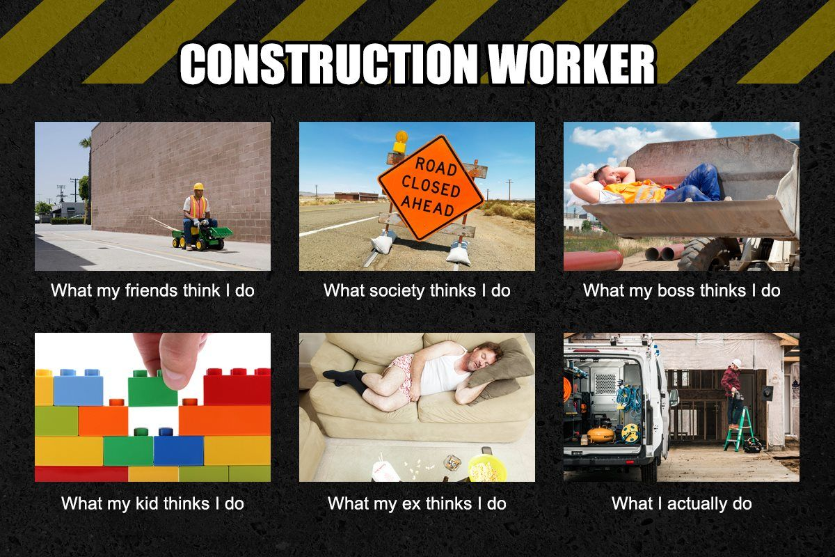 Construction Worker Meme | Funny | Funny pictures, Funny ...