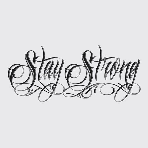 """Wrist Tattoo Saying """"Stay Strong"""" With A Heart And A"""