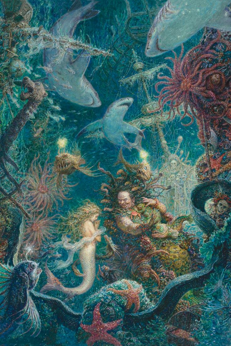Illustrationen Aus Die Kleine Meerjungfrau Von Hans Christian Andersen Kunstlerisch Umgeset Kunst Mit Meerjungfrauen Kunstproduktion Die Kleine Meerjungfrau