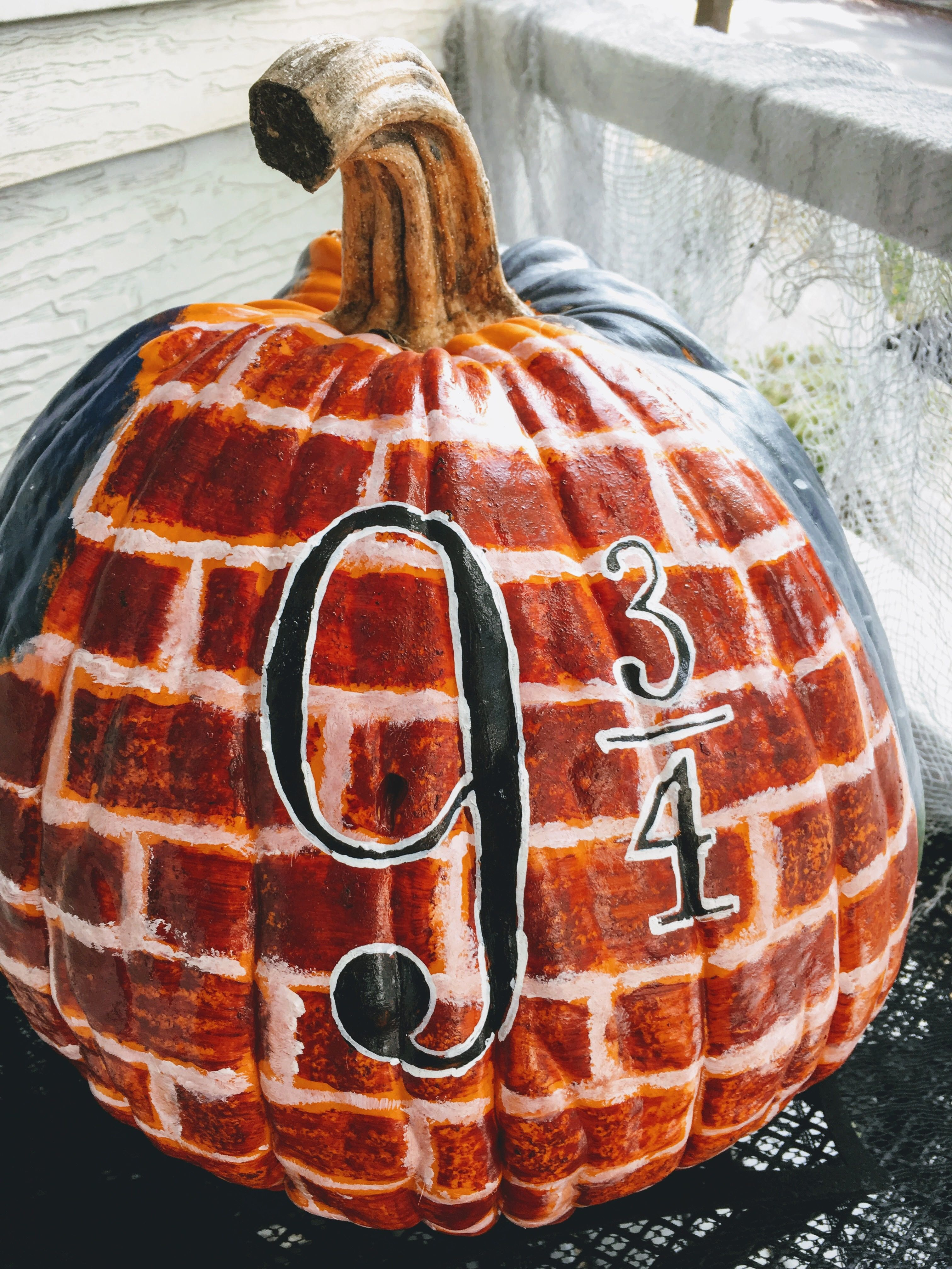 Harry Potter painted pumpkin by Megan Harry potter