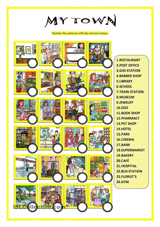 My Town English Writing Pinterest English English Exercises