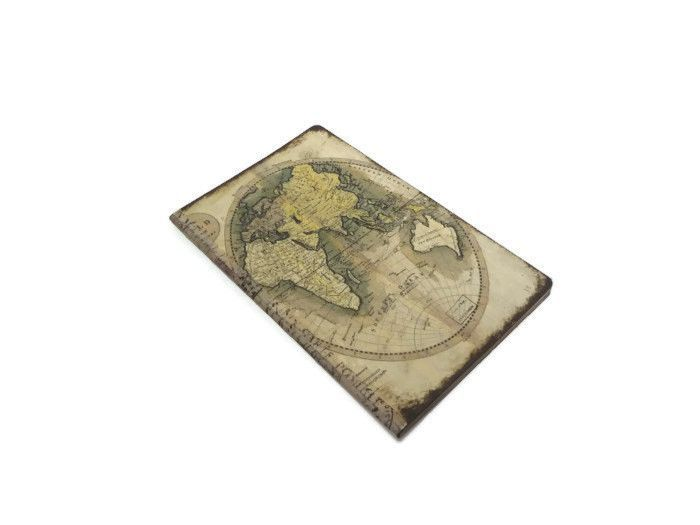 Old world map journal geography notebook earth tones travel old world map journal geography notebook earth tones travel journal antique map gumiabroncs Gallery