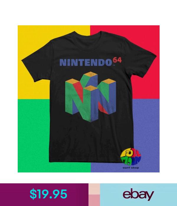 T Shirts Nintendo Classic N64 Logo Vintage Mens Retro T Shirt Ebay Fashion