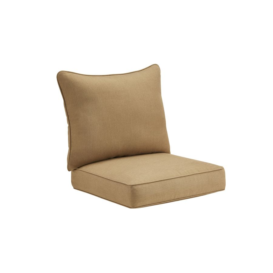 Sunbrella Sailcloth Sisal Solid Cushion For Deep Seat Chair At Lowes