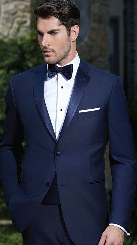 Latest Designs Wedding Suits Navy Blue Men Suits Blazer Formal ...