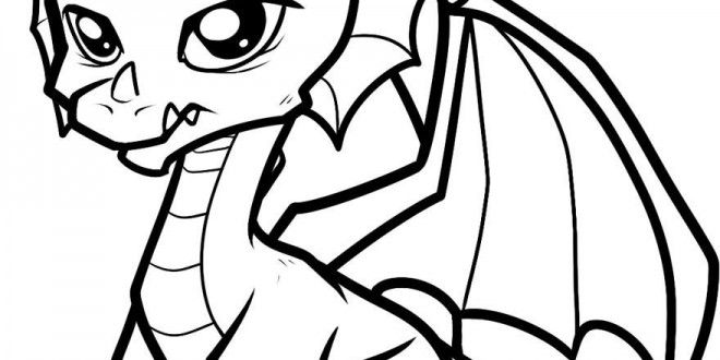 Cute Baby Dragon Coloring Pages Easy Dragon Drawings Dragon Coloring Page Baby Dragons Drawing