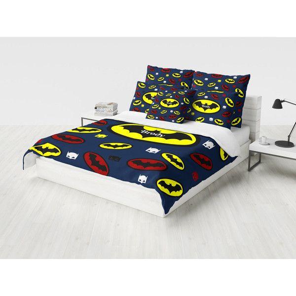Super Hero Duvet Cover or Comforter Navy Batman Custom Personalized ...
