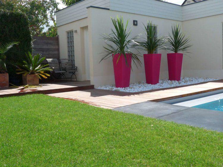 Des pots design rose fuchsia | Jardin & terrasse | Pinterest