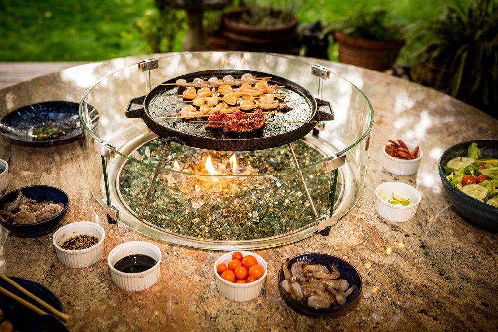 Outdoor Korean Bbq Table Fire Pit Design Ideas Bbq Table Fire Pit Cooking Cooking Kit